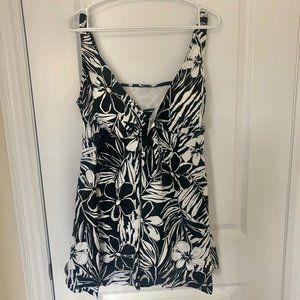Plus Size Polyester Tankinis Swimwear dress